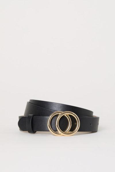 ceinture fine noire H&M