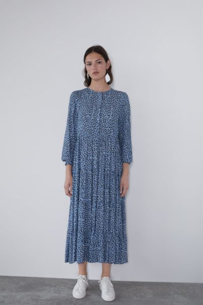 robe longue imprimée zara
