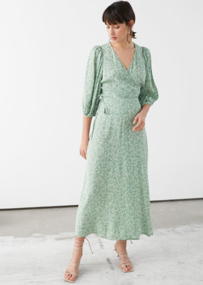 Robe &otherstories midi menthe