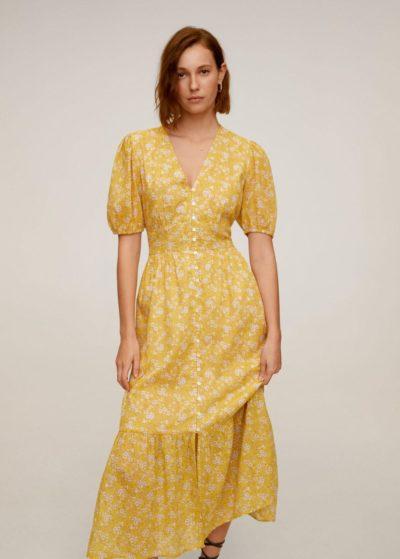 robe midi  mango jaune